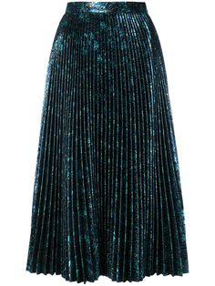 Prada Pleated Metallic Jacquard Midi Skirt In Bluette Skirt Outfits, Dress Skirt, Bar Outfits, Vegas Outfits, Club Outfits, Metallic Pleated Skirt, Pleated Skirts, Blue Skirts, Sequin Skirt