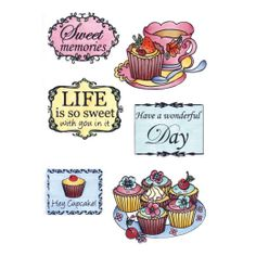 Marianne Design Clear Stamps - Tea & Cupcakes EWS2206 - 24,00Lt