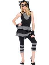 Raccoon Costume for Teen Girls - Halloween City   I'm going to wear this no one steal my idea haha.