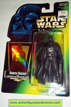 star wars action figures DARTH VADER power of the force 1997 hasbro toys moc mip mib