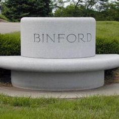 Bench memorial for the Binford family