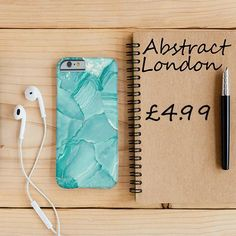 "Turquoise Color Marble Phone Case✔ Apple and Samsung Galaxy Model ✔£4.99 ✔WorldWide Shipping use discount code ""pinterest123"" to get 10% off at checkout"