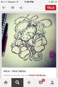Want the clock with roses . I'm Getting a quarter sleeve !!!!