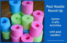 Pool Noodle Round-Up – so many ways to play with pool noodles – Creative Connections for Kids Source by kristi_cck Pool Noodle Games, Pool Noodle Crafts, Pool Games, Pool Noodles, Backyard Games, Noodles Games, Fun Noodles, Summer Activities, Craft Activities