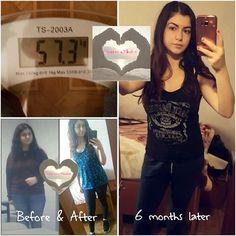 Hi ladies, ik had een tijd geleden mijn Before & After geplaatst (mei 2016). Nu wil ik mijn resultaat laten zien na 6 maanden. Geen jojo-effect  😍 het programma heeft mijn leven voorgoed veranderd  ❤ Ik ben 1.65 lang en mijn doel was om 58 kilo te wegen. Nu weeg ik 57 kilo en mijn vetpercentage is 23%. Dat is ideaal voor mij