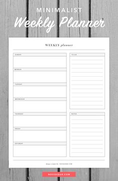 Use this free minimalist weekly planner printable to help design a simple life.