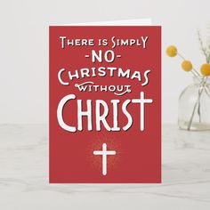 Shop Religious Christmas - No Christmas without Christ Holiday Card created by ChristianCreative. Christian Greetings, Christian Greeting Cards, Christian Christmas Cards, Religious Christmas Cards, Merry Christmas Card, Holiday Cards, Jesus Tree, True Meaning Of Christmas, Card Sizes
