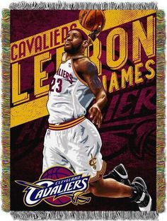 LaBron James Miami Heat Throw Blanket Afghan Tapestry