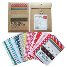 A set of pre-cut sheets of washi tape that you can use to decorate crafts or organize your planner.