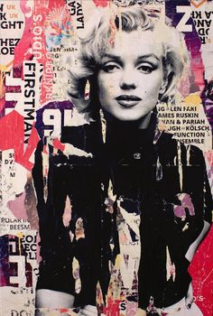 "Saatchi Art Artist Michiel Folkers; Collage, ""Marilyn Monroe"" #art"