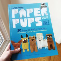 Paper Pups is a craft book featuring 20 punch out paper dogs that you assemble with simple folding techniques.