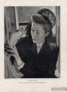 Marcel Rochas & Legroux 1946 Mrs Hélène Rochas Portrait