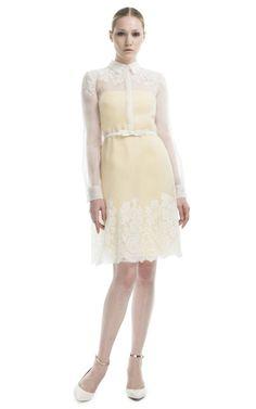 Palladium Lace Shirt Dress by Valentino for Preorder on Moda Operandi
