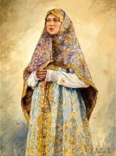 Русский художник исторического и бытового жанра Лебедев Клавдий Васильевич (1852-1916)