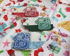 Biglietti di Auguri a forma di Tag con Lumachine (Dimensioni: 5.8x10 cm)  http://it.dawanda.com/product/68553763-3-Biglietti-Tag-per-regali-di-Natale