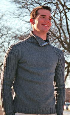 Brigade by Todd Gocken available via Ravelry $7.00 USD.  Knit in a 10ply worsted yarn