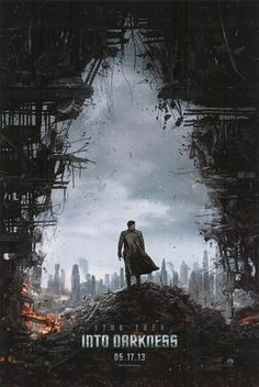 """""""Star Trek: Into Darkness"""" Directed by J. Starring Benedict Cumberbatch, Chris Pine, and Zachary Quinto, and Simon Pegg The Darkness, Star Trek Into Darkness, Darkness Film, Star Trek 2009, New Star Trek, Zachary Quinto, John Cho, Simon Pegg, Science Fiction"""
