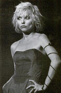 debbie harry lead singer in the rock band Blondie