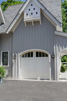 LOVE the siding, the garage door, the little bird/bat house above | UECo - Portfolio - Environment - Exterior