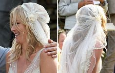 This particular style of veil is a take on the 'Juliet Cap', which was originally fashioned in the 16th Century.  The name stems from Shakespeare's play Romeo and Juliet, when original drawings of Juliet depicted her wearing a cap that fit neatly to the top of her head.