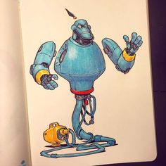 Tagged with art, robot, disney, mecha; Art Disney, Disney Kunst, Character Concept, Character Art, Concept Art, Robots Drawing, Art Drawings, Drawing Art, Robots Characters