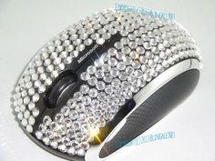 Microsoft Wireless Mouse 6000 Blingkled with hundreds of Swarovski Elements crystals.  Blingkle.net.