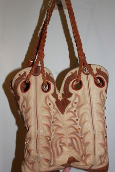cowboy boot purses with braided straps