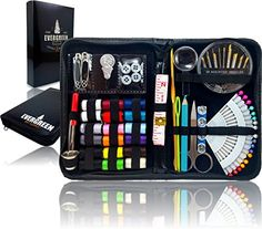 SEWING KIT - if you want to buy a nice set of beginner sewing supplies, or gift them to someone who might be interested in sewing, then this set is the one to get.  Really nice case so you can take it to class too. http://amzn.to/27w1k0d