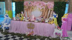Momento Mágico Decorações : Princesas painel 3d