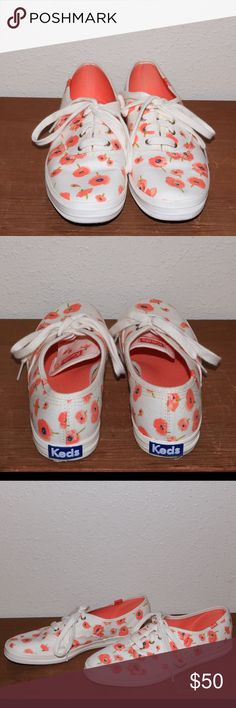 NWOT Poppy flower Keds NWOT beautiful Keds. They were worn once when I tried them on but are in perfect condition! These are a must have and are sure to go quick... grab em while you can! Feel free to make an offer  Keds Shoes Sneakers
