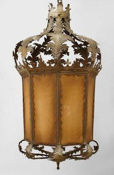 Italian Venetian lighting lantern wrought iron