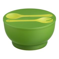 Chill Salad Bowl with Salad Servers