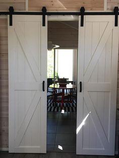 White Barn, Line Design, Garage Doors, Mirror, Outdoor Decor, Room, Inspiration, Furniture, Home Decor