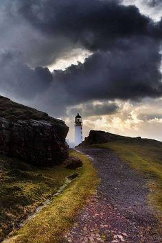 Rua Reidh lighthouse, Melvaig, Wester Ross, Scotland
