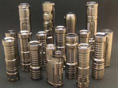 "A few grand worth of gorgeous titanium flashlights.  ""Flash"" lights."