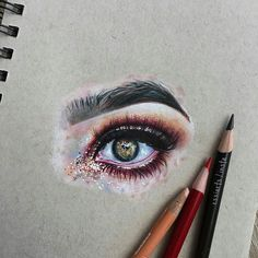 WANT A SHOUTOUT ?   CLICK LINK IN MY PROFILE !!!    Tag  #DRKYSELA   Repost from @essiarts   drawing of @speckledgal's eye  - hope ya like itt  - done w @prismacolor pencils on @strathmoreart toned tan paper  - ps. sparkleS ARE SO HARD TO DRAW OMG via http://instagram.com/zbynekkysela