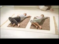 Estiramientos. Relajar la espalda 1 - YouTube Physical Fitness, Yoga Fitness, Health Fitness, Lumbar Pain, Yoga Mantras, Back Pain Exercises, Yoga Videos, Physical Therapy, Health And Safety