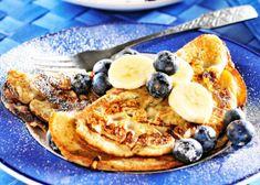 Favorit just nu – bananpannkakor Pancakes, French Toast, Breakfast, Food, Breakfast Cafe, Pancake, Essen, Yemek, Meals