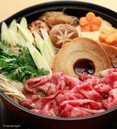 すき焼き Joycook Japan  Sukiyaki  cooked in the Joycook