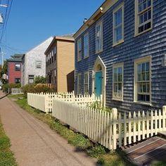 Loyalist homes along historic Lower Saint George Street, Annapolis Royal, Nova Scotia Annapolis Royal, Saint George, Nova Scotia, Empire, Saints, Sidewalk, Deck, The Unit, Homes