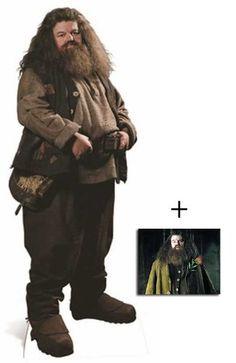Hagrid de Harry Potter Personnage Découpé Dans Du Carton / Silhouette En Carton: Grandeur Nature / Standee / Stand-Up Robbie Coltrane - Avec Star Photo (Dimensions 25x20 Cm)