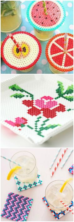 Ironing a hundred tiny beads together is oddly satisfying — and super cute! Make drink lids, trays, or coasters.