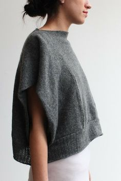 Souchi - souchi izzy panel shell in hand loomed cashmere