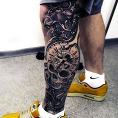 The 85 Best Leg Tattoos for Men Improb, The 85 Best Leg Tattoos For Men Improb. The 85 Best Leg Tattoos For Men Improb. Colorful Sleeve Tattoos, Skull Sleeve Tattoos, Leg Tattoo Men, Best Sleeve Tattoos, Body Art Tattoos, Forearm Tattoos, Trendy Tattoos, Tattoos For Guys, Cool Tattoos