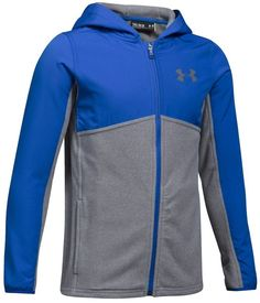 Under Armour Big Boys 8-18 Athletic Zip Hooded Shirt Hoodie Size L