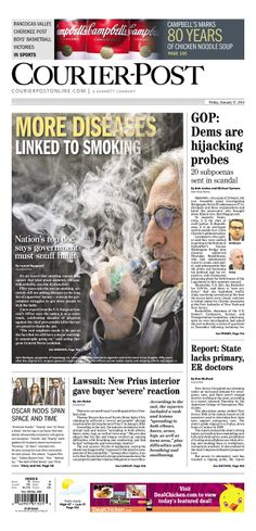 Courier-Post, published in Cherry Hill, New Jersey USA