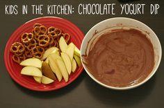 Chocolate yogurt dip recipe for kids