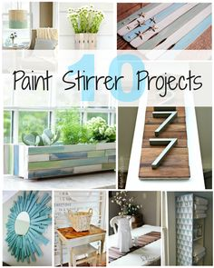 10 Paint Stirrer Projects - The Rustic Willow Painting Minecraft, Minecraft Wall, Minecraft Bedroom, Paint Stir Sticks, Painted Sticks, Paint Stick Crafts, Diy Popsicle Stick Crafts, Paint Stirrers, Diy Concrete Planters