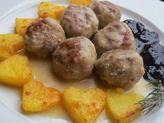 Albóndigas suecas Ikea Ana Sevilla olla GM Wine Recipes, Salad Recipes, Meatloaf, Crockpot, Potatoes, Favorite Recipes, Gm Olla, Vegetables, Cooking