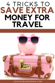 A vacation sounds wonderful, but where does the money to go come from? Check out these 4 tricks to save extra money for travel for some tips on how to save money to pay cash for your next vacation. Best Money Saving Tips, Money Saving Challenge, Ways To Save Money, Money Tips, Saving Money, Money Budget, Budget Travel, Cheap Travel, Travel Tips